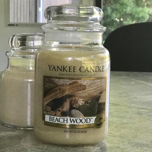 Yankee Candle Beachwood Lg 22 Ounce Jar, New
